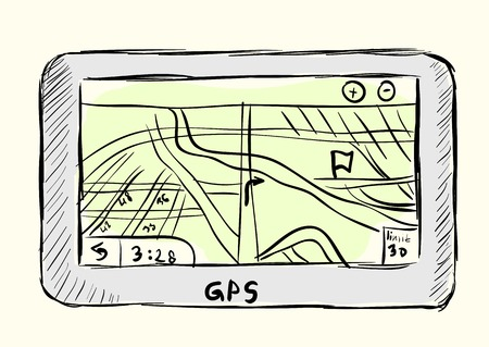 electronic guide: The sketch GPS of the navigator for the car