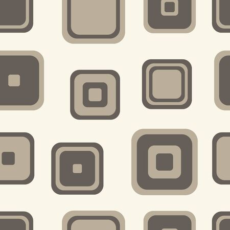 rounded squares: The rounded squares of brown shades on a light background