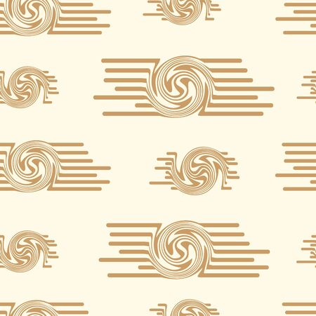 uniform curls: Seamless abstract texture with brown spirals on the light