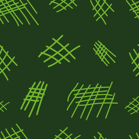 uniform curls: Seamless texture with green grids against a dark background