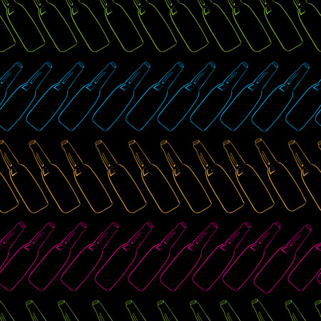 inclination: Seamless texture with rows of color contours from bottles