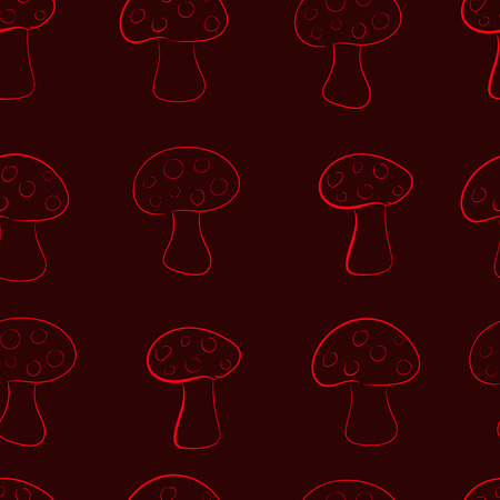 contours: Seamless texture with contours of fly agarics