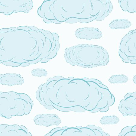 blue clouds: Seamless texture with blue clouds in the sky