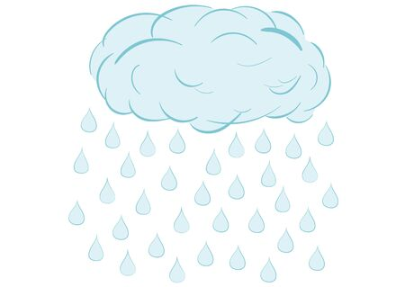 heavenly light: Illustration a blue cloud with the rain