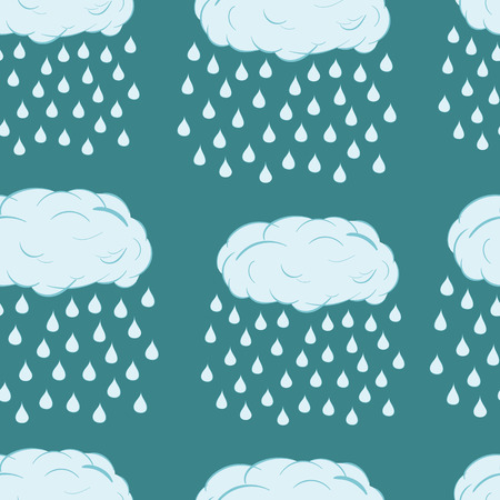 blue clouds: Seamless texture with rain blue clouds with drops