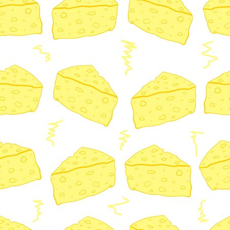 chunk: Seamless texture with cheese and a scribble