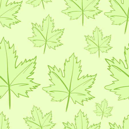 usual: Seamless texture with usual maple green leaves