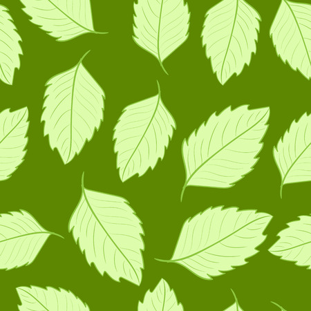 usual: Seamless texture with usual sharp green leaves