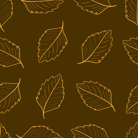 sharp: Seamless texture with contour sharp orange leaves