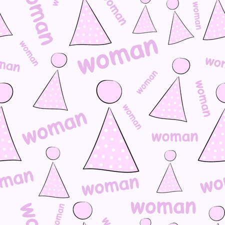 negligent: Seamless texture with pink female toilet signs Illustration