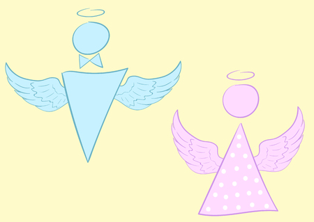 negligent: The sketch angels with wings and a nimbus Illustration