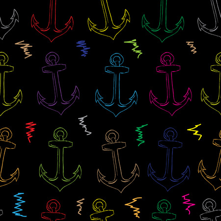 contours: Seamless texture with color contours of anchors