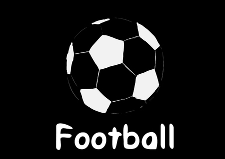 creatively: Silhouette of a soccer ball and inscription soccer Illustration