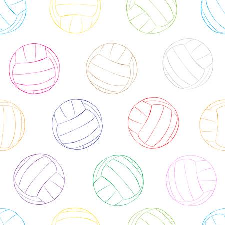 konturen: Nahtlose Textur mit Volley Konturen von Kugeln