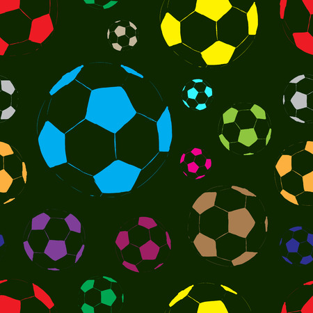 contours: Seamless texture with sketches of contours soccer balls