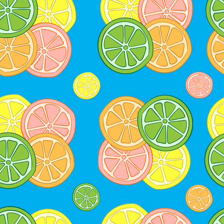 citrus fruit: Seamless texture with groups of citrus fruit