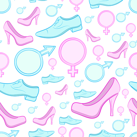 Male and female footwear and sexual signs