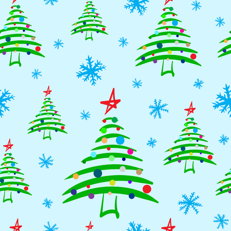 firtrees: Seamless texture with festive elegant Christmas fir-trees