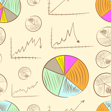 graphical chart: Seamless texture with various schedules and charts