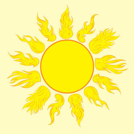 ardent: The yellow sun with beautiful ardent beams