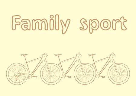 a two wheeled vehicle: Conceptual illustration with the sports family bicycle Illustration