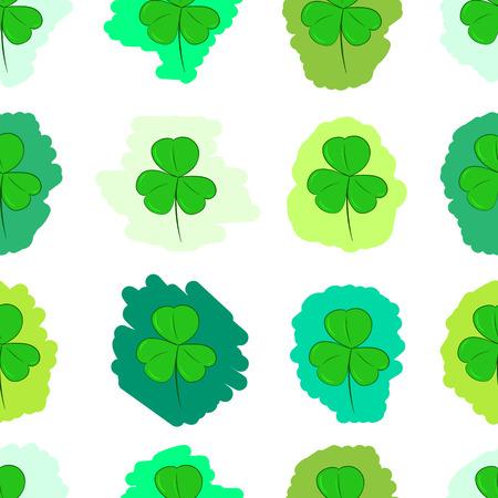shamrocks: Seamless texture with the painted green shamrocks