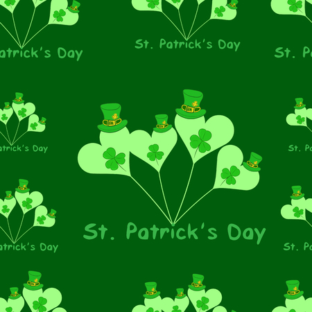 symbolics: Seamless texture with balls with symbolics of a St. Patricks Day