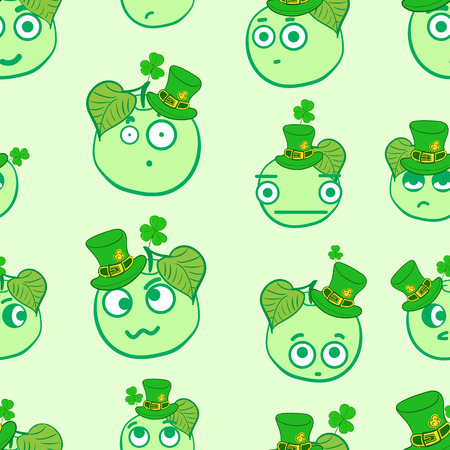 shyness: Seamless texture with apples by a St. Patricks Day Illustration