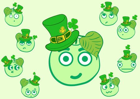 shyness: Set with apples by a St. Patricks Day