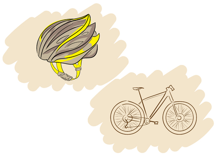 fastener: A bicycle helmet with a fastener and a bicycle contour