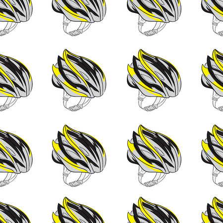 a thong: Seamless texture with a color bicycle helmet with a thong