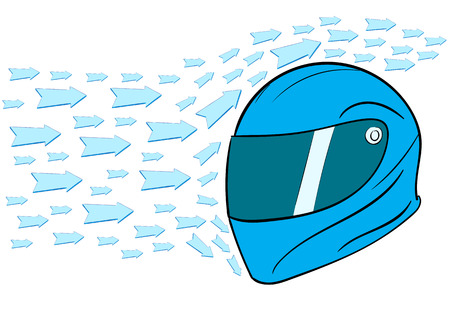 aero: Conceptual illustration with an aero dynamic helmet