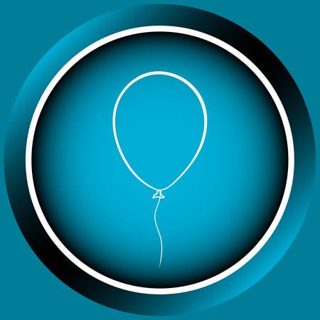 contours: Web icon the button of blue color from balloon contours