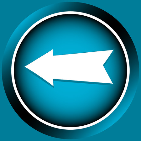 Icon the button of blue color with an arrow the index Illustration