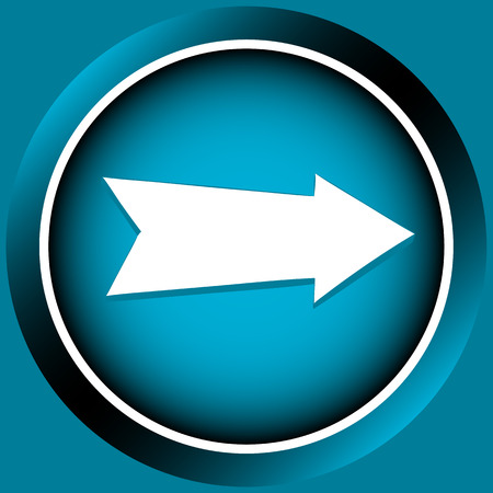 specify: Icon the button of blue color with an arrow the index Illustration