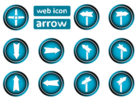 shooters: Clipart with web icons buttons with shooters Illustration
