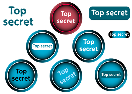 top secret: Clipart with icons buttons an inscription top secret