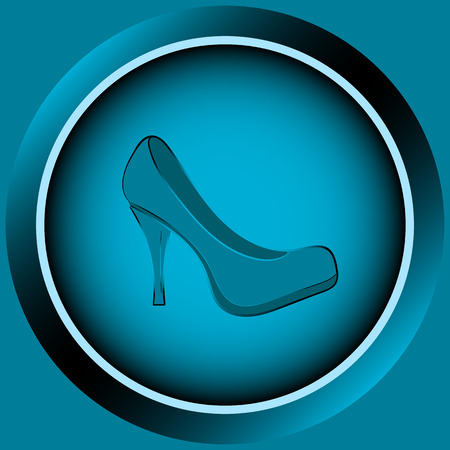 darkly: Icon button with a gradient a womens shoe