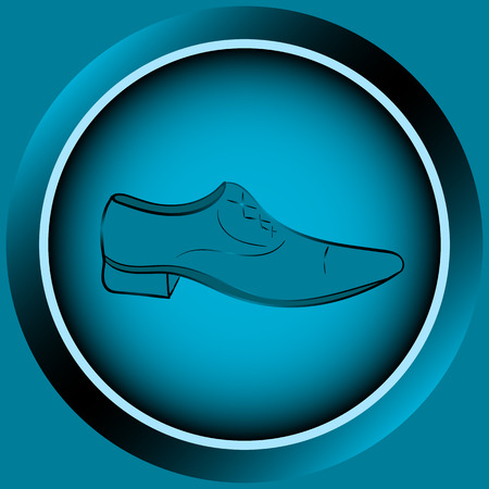 darkly: Web icon button with blue mens shoes