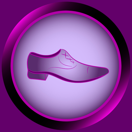 darkly: Web icon button with violet mens shoes