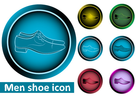 darkly: Clipart set a web icons buttons with mens shoes