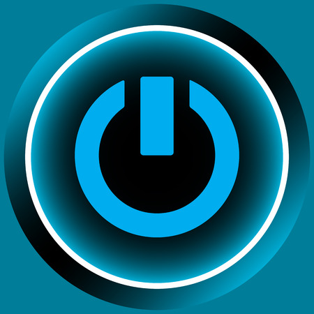 switching: Icon of blue color with a switching off sign Illustration