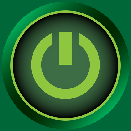 switching: Icon of green color with a switching off sign