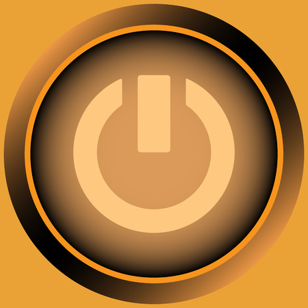 switching: Icon of orange color with a switching off sign