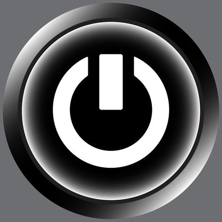 switching: Icon of black color with a switching off sign