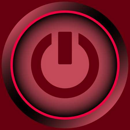 switching: Icon of red color with a switching off sign