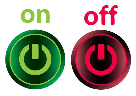 switching: Icon of different color with a switching off sign Illustration
