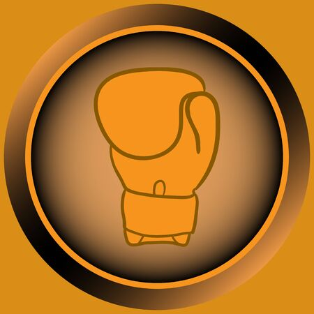boxing glove: Icon the button with a color boxing glove Illustration
