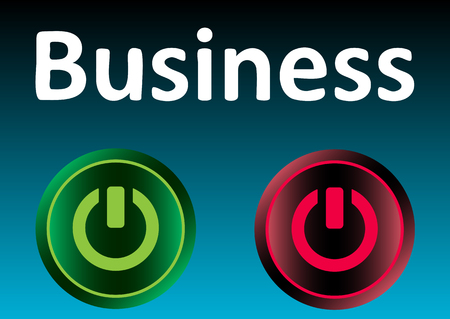 inclusion: Business inscription and classical icons of inclusion and switching off Illustration