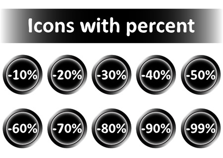 Clipart with icons with percent of discounts